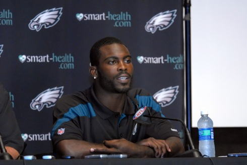 Eagles quarterback Michael Vick had to cancel a book signing in Atlanta because of death threats. Photo by William Z. Foster