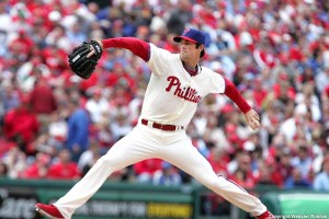 Cole Hamels had eight strikeouts and allowed just two runs in the Phillies He got no run support from the Phillies offense.