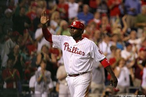 Phillies interim manager Ryan Howard should forget about 2013 and back next year. Photo By Webster Riddick.