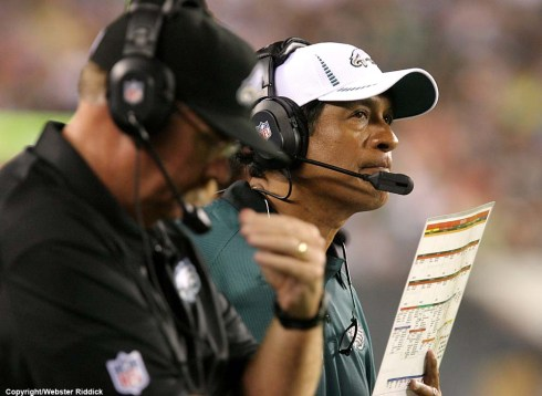 After the defense blow a pair of late leads, the Eagles fire defensive coordinator Juan Castillo. Photo by Webster Riddick.