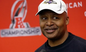 Ravens offensive coordinator Jim Caldwell is the mastermind behind Baltimore's offensive resurgence in the playoffs.