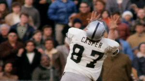 Dave Casper 44-yard heave from Ken Stabler that put the Raiders in position to kick game-tying field to send their AFC Divisional Playoff game against the Baltimore Colts into overtime.