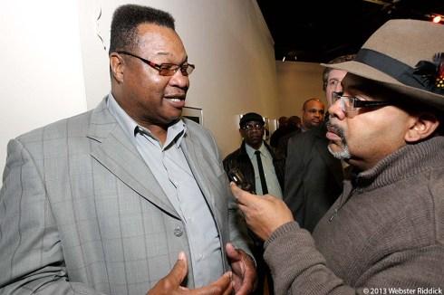 Former heavyweight champion Larry Holmes said a statue for Joe Frazier is long overdue. Photo by Webster Riddick.