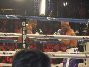 Hopkins used his defense and counter-punching to take Tavoris Cloud's IBF light heavyweight title. Photo by Chris Murray.