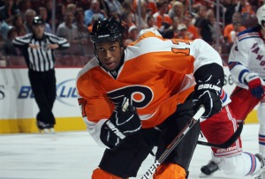 Wayne Simmonds scored the game-tying goal in the Flyers win over the Montreal Canadiens