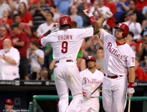 Brown's single in the ninth gives the Phillies a walk-off win. Photo by Webster Riddick.