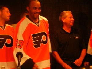 Flyers Goalie Ray Emery  will be competing for starting spot at goaltender this upcoming season. Photo by Chris Murray