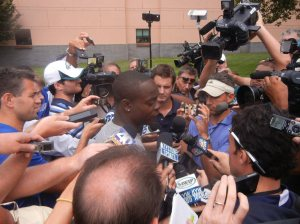 Jeremy Maclin tore his ACL during practice on Saturday and is out for the season. Photo by Chris Murray.