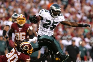 LeSean McCoy ran roughshod through a worn out Redskins defense for 184 yards on 31 carries and one touchdown.