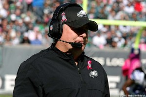 Eagles head coach Chip Kelly made some questionable coaching moves in Eagles loss to Minnesota. Photo by Webster Riddick