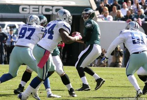 Eagles quarterback Nick Foles struggled in the loss to Dallas. Photo by Webster Riddick.