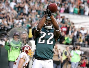 Brandon Boykin's interception in the end zone was the exclamation point to a huge win for the Birds. Photo by Webster Riddick.
