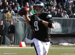 Nick Foles has another solid performance for the Eagles. Photo by Webster Riddick
