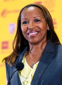 Basketball Hall-of-Famer Cynthia Cooper-Dyke won four WNBA titles as a player and is looking to bring USC back to prominence in women's basketball.