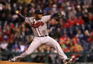 Atlanta's Julio Teheran allowed just four hits in a complete game shutout of Philadelphia. Photo by Webster Riddick.