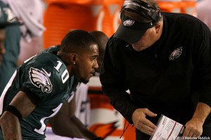 Former Eagles and now Washington Redskins wide receiver DeSean Jackson apparently did not get along with Birds head coach Chip Kelly. Photo by Webster Riddick.