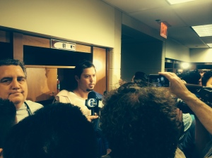 Dodgers starting pitcher Josh Beckett held the Phillies hitless in LA's 6-0 win. Photo by Chris Murray.