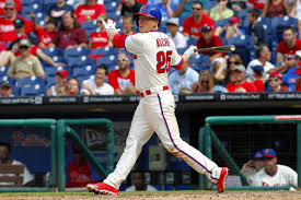 Cody Asche ha been swinging a hot bat for the Phillies.