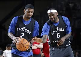 LeBron James and Kyrie Irving were teammates at the 2014 All-Star Game. Now they are teammates with the Cleveland Cavaliers. Irving was the MVP of the All-Star Game.