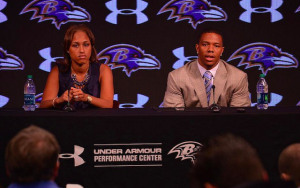 Janay and Ray Rice's press conference to explain spousal abuse incident in New Jersey.