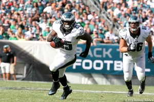 Eagles running back LeSean McCoy is averaging just 2.7 yards per carry in 2014 after leading the NFL in rushing in 2013. Photo by Webster Riddick.