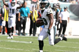 Sproles 49-yard dash in the third quarter of Sunday's game against Jacksonville eventually sparked the Eagles to a victory over the Jaguars. Photo by Webster Riddick.