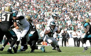 Eagles running back Darren Sproles had 147 all-purpose yards in the Eagles win over Jacksonville. Photo by Webster Riddick.