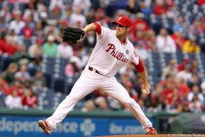 Cole Hamels had a career best 2.46 ERA, but didn't get enough run support in 2014 and now wants out of Philadelphia.  Photo by Webster Riddick.