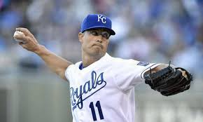 Righthanded pitcher Jeremy Guthrie led Kansas City to a win in Game 3 of the 2014 World Series. The series is now tied at 2-2.