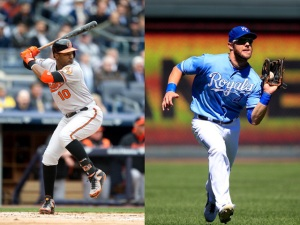 Baltimore;s Adam Jones and Alex Gordon for the Royals.