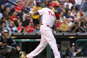 Ryan Howard struggles hurt the Phillies offense in 2014. Photo by Webster Riddick.