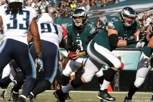 Eagles back-up quarterback Mark Sanchez  will lead the team's run to the playoffs.  Photo by Webster Riddick.