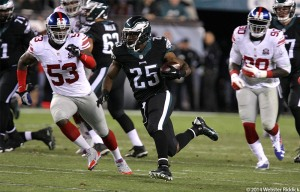 Shady McCoy had a big game against the Houston Texans. He, along with Chris Polk and Darren Sproles, will be a key to the Birds push for the playoffs. Photo by Webster Riddick