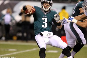 Mark Sanchez threw two interceptions in the Eagles loss to the Dallas Cowboys. Photo by Webster Riddick.