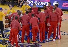 LA Clippers protest racist remarks by  thent team owner Donald Sterling. Photo by Indystar.com