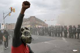 Civil unrest in Baltimore in the wake of Freddie Gray's death at the hands of the police. Photo courtesy of Salon.com
