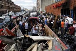 The CVS Pharmacy at Pennsylvania and North Avenue in Baltimore after was burned down Monday night by rioters.  Photo courtesy of Newsweek.com