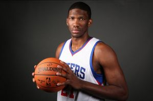 Joel Embiid's foot has yet to heal and he could be out for next year.  Photo by Sixers.com