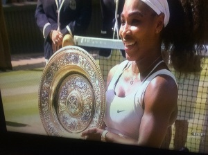 Serena Williams Wins her sixth Wimbledon singles title and her 21st overall. Footage courtesy of ESPN.