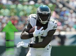 Eagles rookie wide receiver Nelson Agholor gave up Eagles a glimpse of what he can do with a spectacular 34-yard touchdown pass.  Photo courtesy of NFL.com