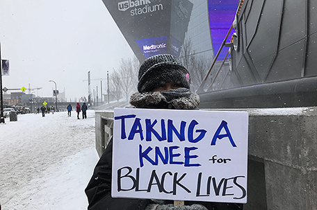 Taking a knee for Black lives